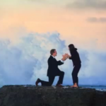 Giant Wave Interrupts Romantic Proposal