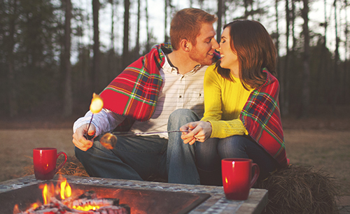 A Cute Engagement Session with Smores