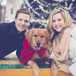 A Magical Christmas Light Engagement Session