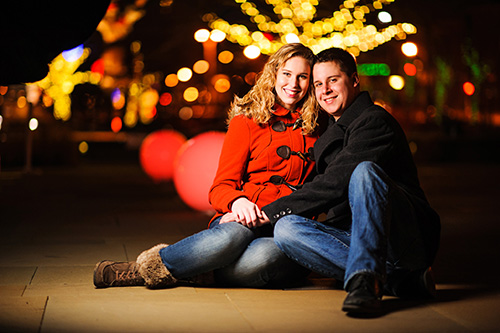 A Colorful Christmas Engagement Session in Saint Louis