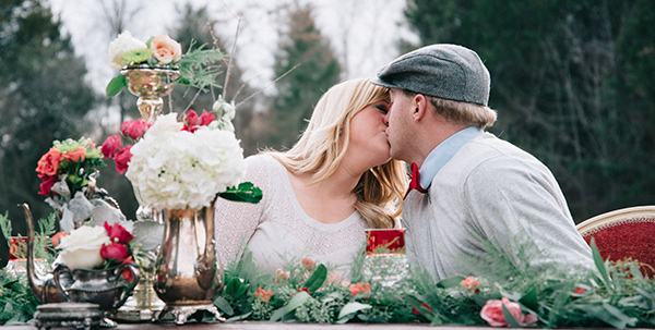 A Romantic Outdoor Valentine's Day Themed Engagement Session