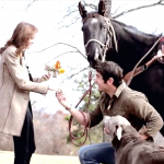 Horseback riding, signs, family, and more in this well planned proposal!