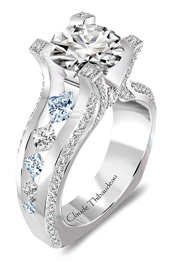 Sky Blue Diamond Engagement Rings