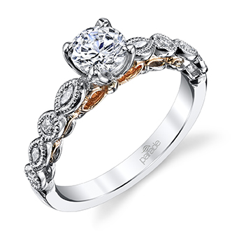 Vintage Style Nature Inspired Engagement Rings with Gorgeous Side Details