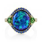 Mesmerizing Color Gemstones Rings by Omi Privé