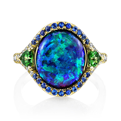 Mesmerizing Color Gemstones Rings by Omi Privé