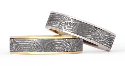Recycling Old Guns To Make Beautiful Jewelry These New Wedding Bands By Chris Ploof Feature Vintage Shot Gun Barrel Damascus Combining A Modern Edge