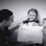 Adorable Proposal with Two Daughters