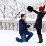 Rain or Snow, the way to Propose!
