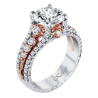 with timeless designs and gorgeous side details the jack kelege engagement ring collection is the perfect pick for the glamour girl - Girl Wedding Rings
