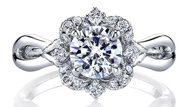 flower shaped engagement rings for spring engagement 101. Black Bedroom Furniture Sets. Home Design Ideas