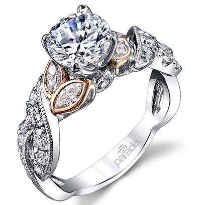 Parade Design engagement ring flower 4