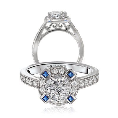 Vintage Engagement Rings with a Hint of Color