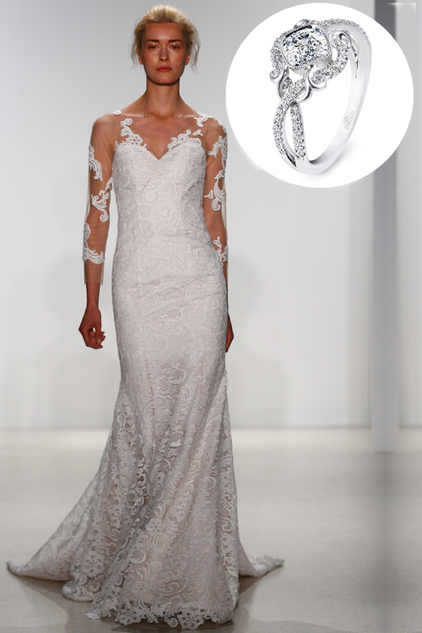 Romantic sleeves wedding dress kelly faetanini parade for Wedding dress sleeve attachments