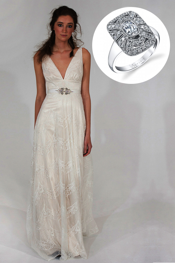 Sexy v neck wedding dresses are the hottest new trend this for Necklace for v neck wedding dress