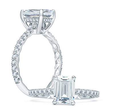 A. Jaffe New Quilted Engagement Ring Collection