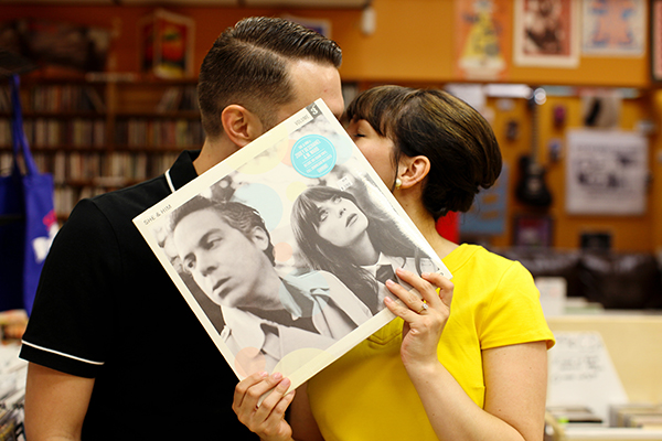 A Cute Record Store Engagement Session