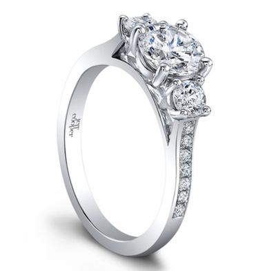 Architectural Engagement Rings by Jeff Cooper