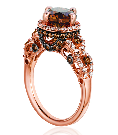 In Vegas Le Vian Also Introduced New Stunning Alternative Engagement Rings We Love Check Out This Selection Of Chocolate Diamonds Delights