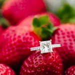 A Strawberry Picking Engagement Session