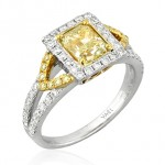 Yellow Diamond Engagement Rings by Yael Designs