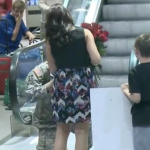 Airplane Passengers Help Soldier Propose