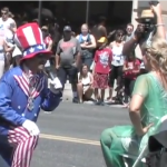 Uncle Sam Proposes to the Statue of Liberty