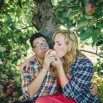Romantic Apple Picking Engagement Session