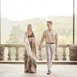 A Romantic Fall Engagement Session in Cheekwood, a Nashville Beauty