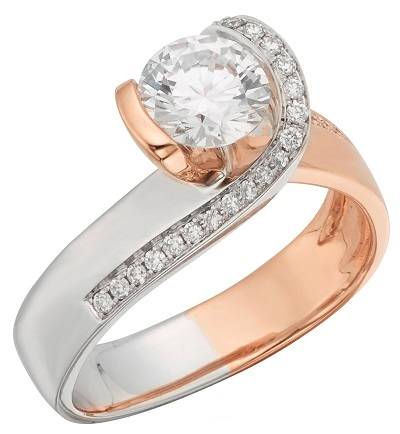 New Rose and White Gold Two-Tone Engagement Rings by Phyllis Bergman