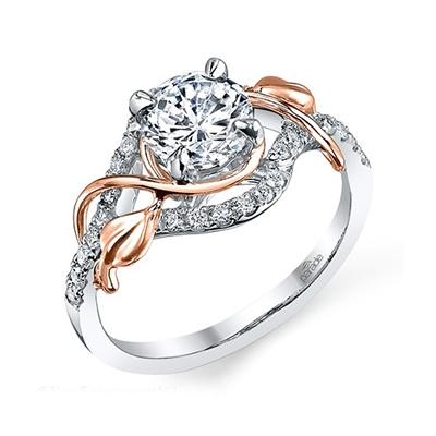 parade design engagement ring rose gold