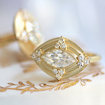 Vintage Style Engagement Rings by Erika Winters