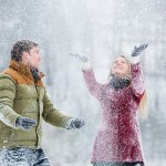 Magical Heavy Snow Engagement Session with Horse Carriage!