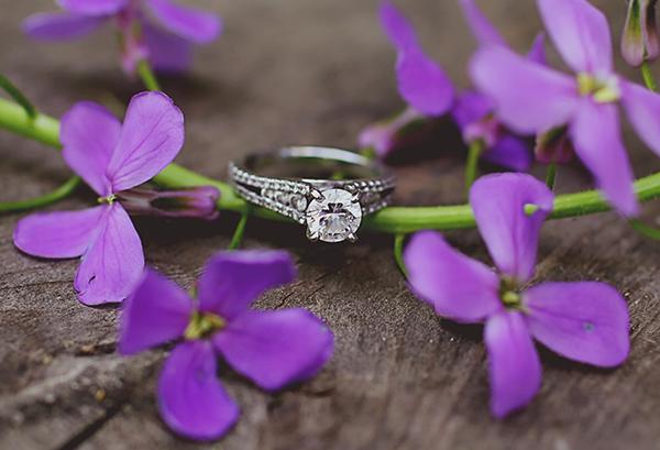 Katie and jordan spring proposal engagement ring