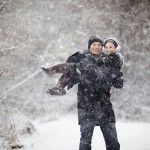 He Surprised Her with a Proposal at Work and a Snowy Engagement Session