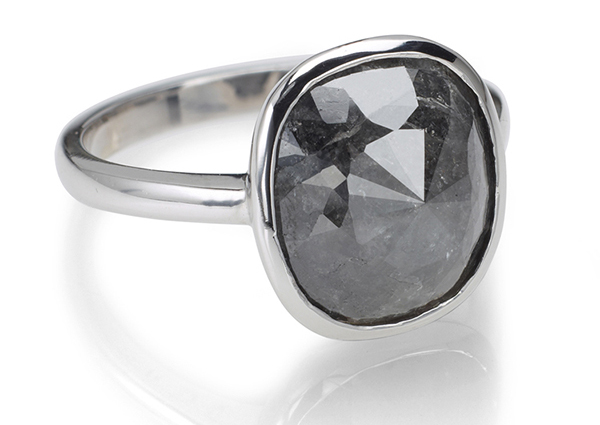 Black Diamond Engagement Rings by Catherine Angiel
