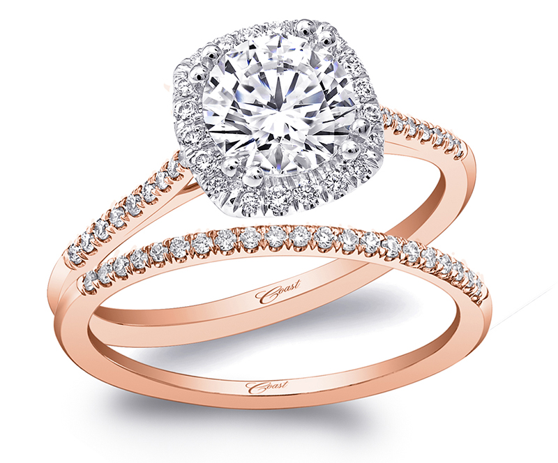 Rose and Yellow Gold Engagement Rings by Coast Diamond