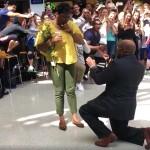 Students Help in Wonderful Teacher Proposal