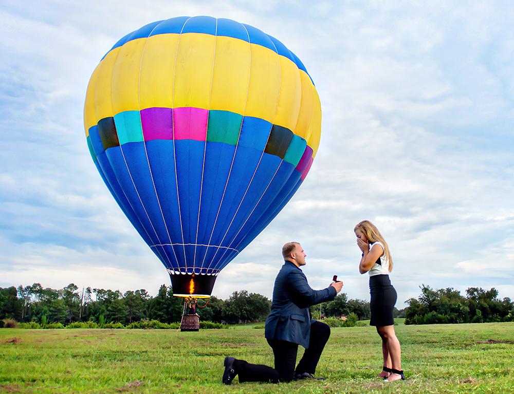 Trish and Corey, a Romantic Air Balloon Proposal