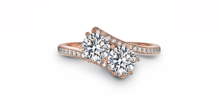forever mark rose gold gemini engagement ring