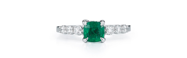 gemini engagement ring emerald takat