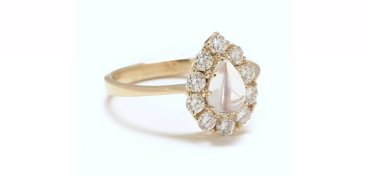 moonstone engagement ring gemini ring