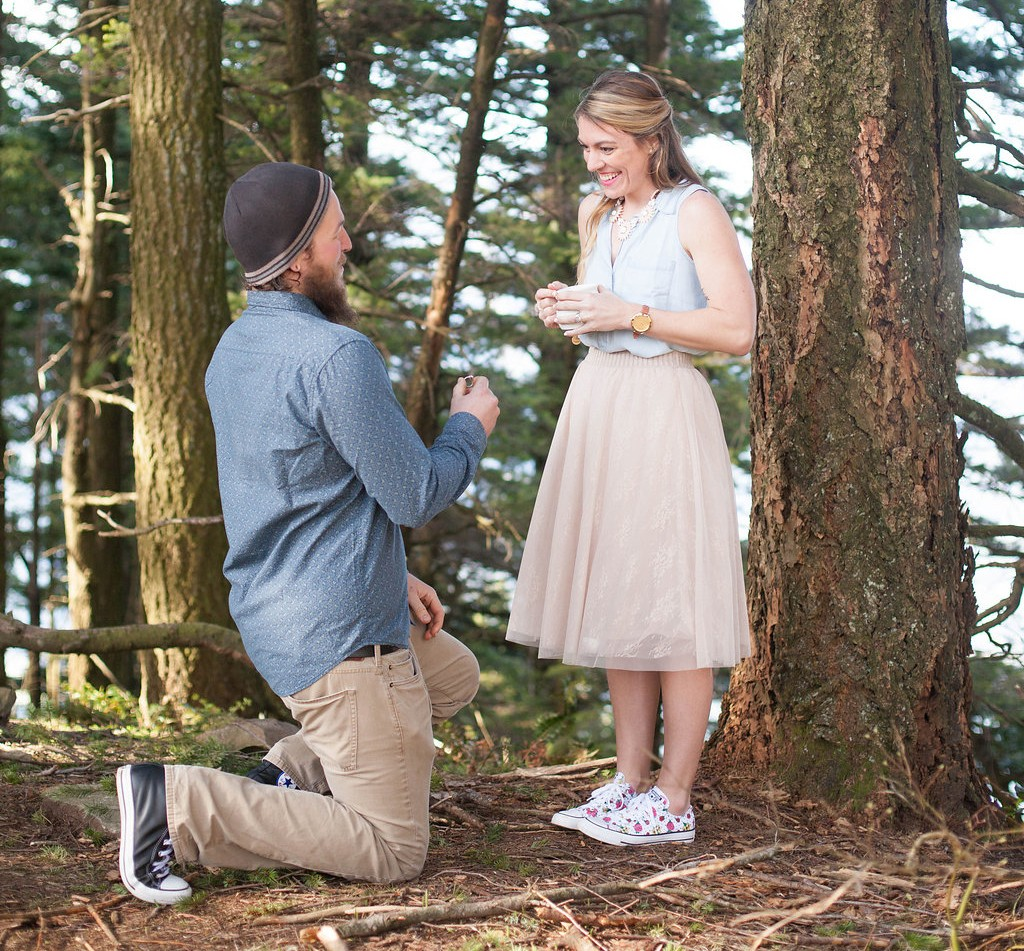forest surprise proposal hiking 1