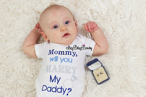 will you marry my daddy baby kids propose with kids