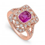 Pretty Vintage Engagement Rings in Pink