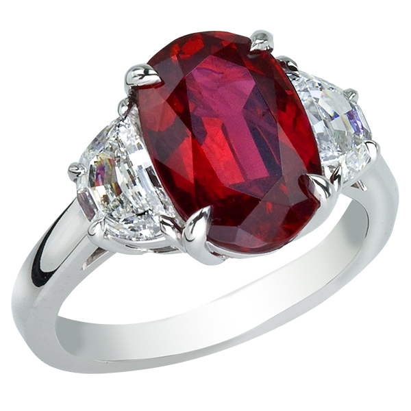 fusaro engagement ring leo ruby