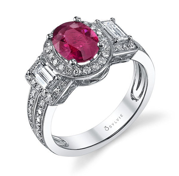 sylvie engagement ring ruby leo
