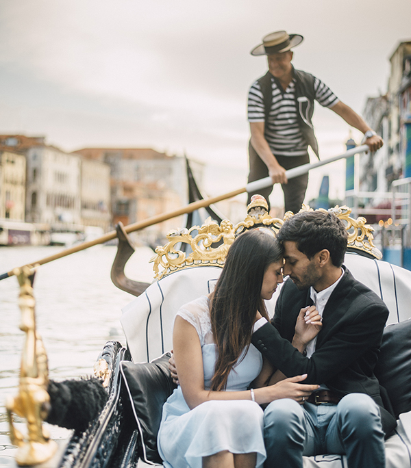 nihal and jes venice proposal gondola