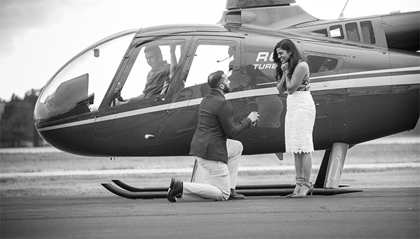 Romantic Helicopter Proposal - Renny & Asha