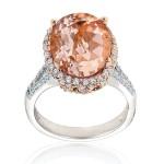 Blush and Shocking Pink Engagement Rings